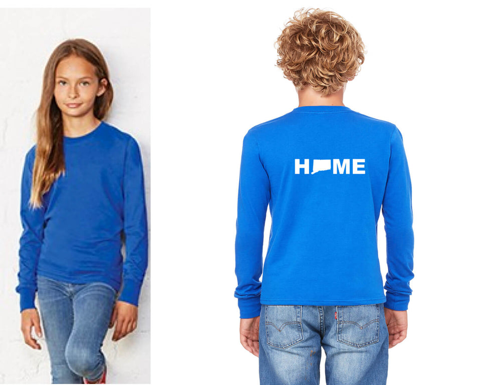 Unisex Youth Long Sleeve HOME Tee- Royal - The Two Oh Three