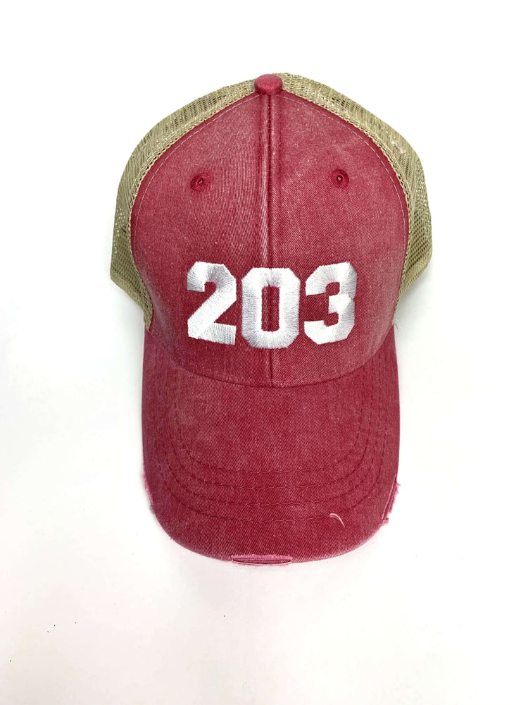 The 203's Embroidered Trucker Cap - The Two Oh Three