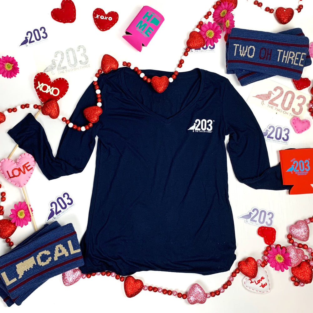 Valentines Bundle for HER (V-Neck, Knit Ear Warmer, Koozie, Decal, Candy)