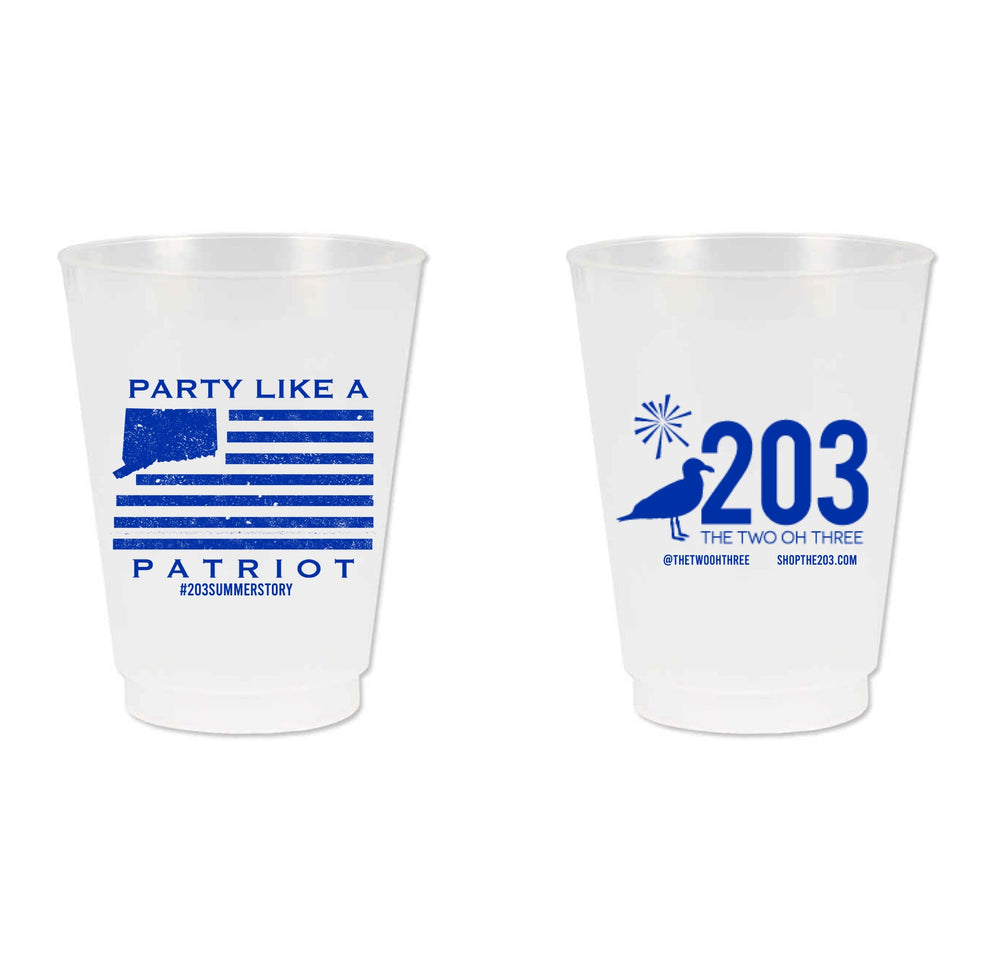 Party Like a Patriot Cups - The Two Oh Three