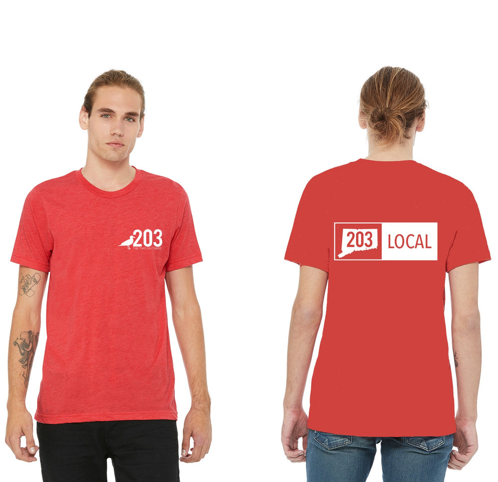 Men's 203 Local T-Shirt (Red) - The Two Oh Three
