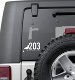 203 Vinyl Decal Stickers