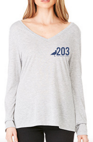 203 Lady's Slouchy V-neck