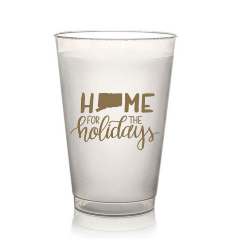 Home for the Holidays Cups GOLD (4 Pack)