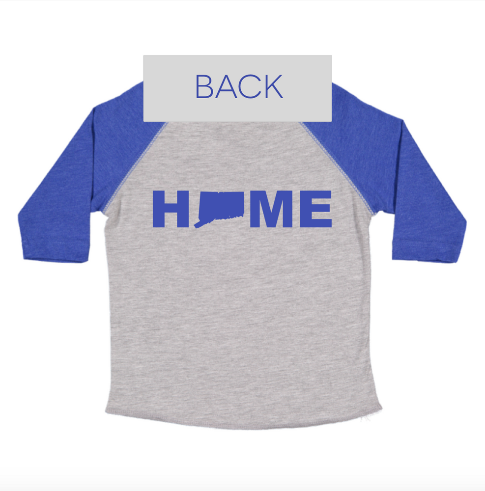 203 Toddler Baseball Tee- Blue