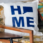 Connecticut HOME Throw Pillow - The Two Oh Three
