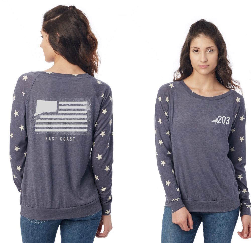 Ladies Stars and stripes Pullover