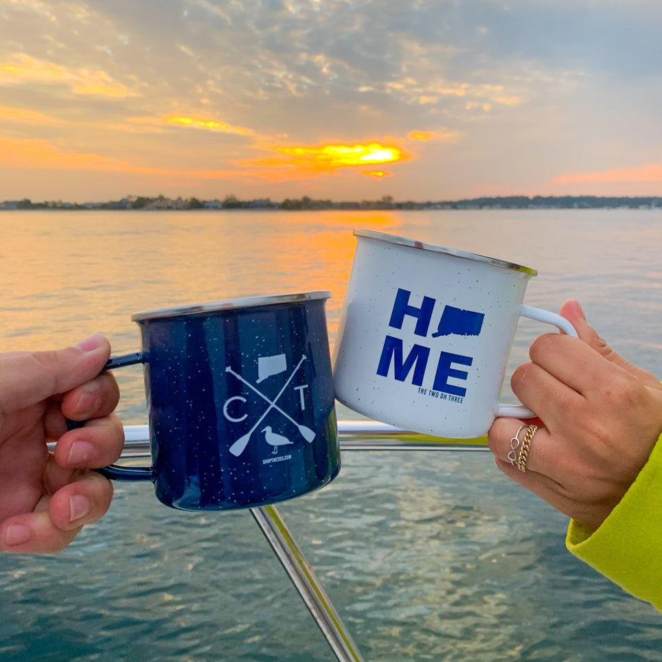 The 203's Steel Camper Mugs