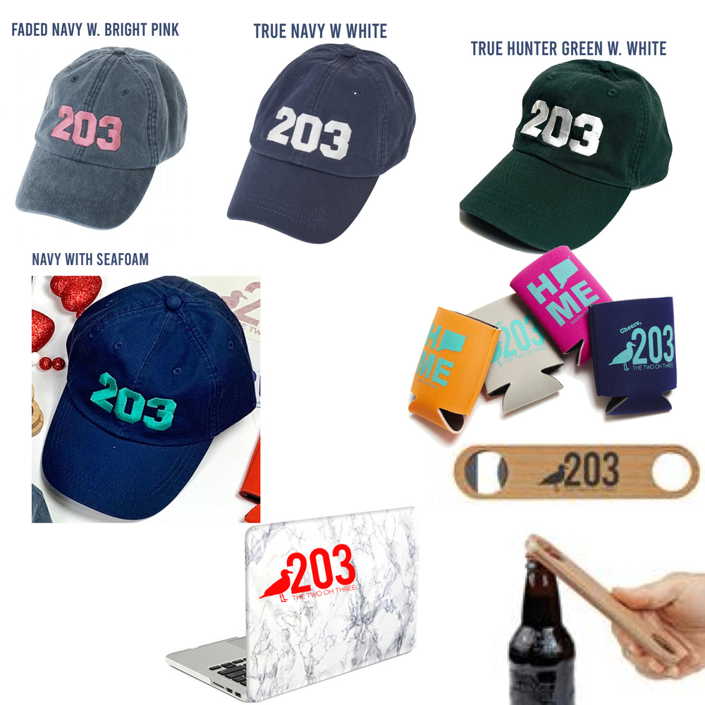 Valentines Bundle for LOCALS (203 Baseball cap, Wooden Bottle Opener, Koozie, Decal, Candy)