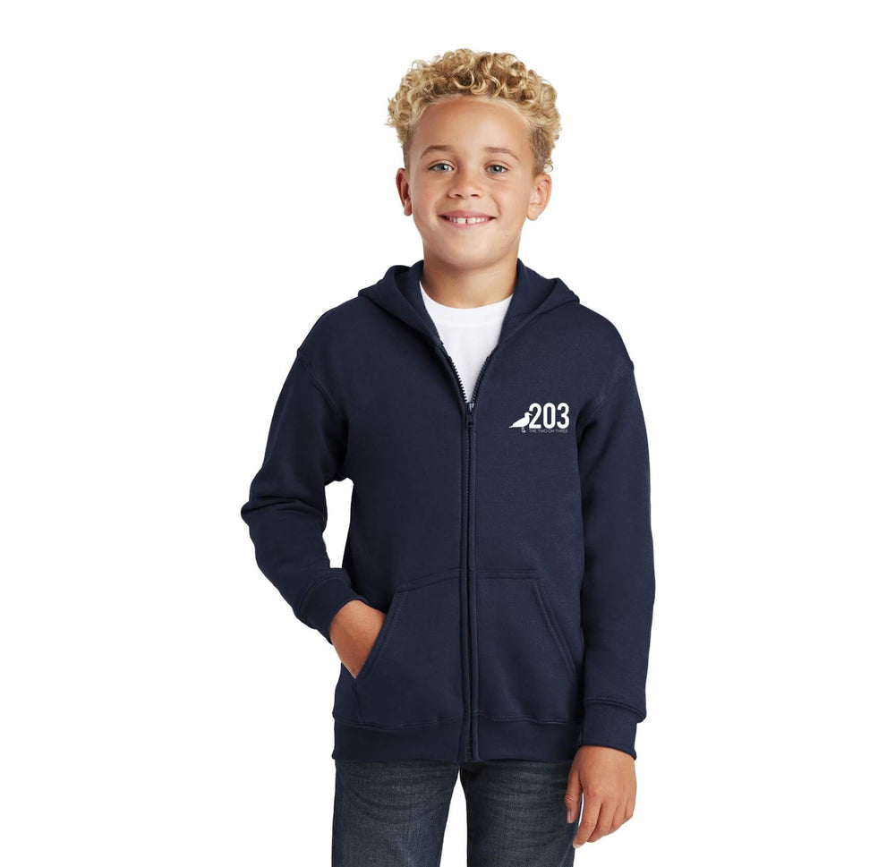 Youth 203 Full Zip Hoody - The Two Oh Three