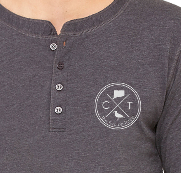 Men's Embroidered Henley - The Two Oh Three