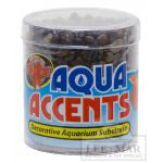 Zoo Med Aquatic Aqua Accents Aquarium Substrate - Dark River Pebbles