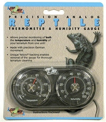 Zoo Med Dual Analog Thermometer / Humidity Gauge