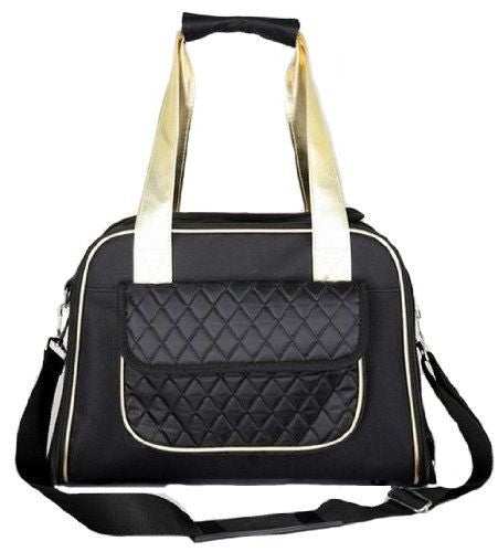 Pet Life Airline Approved Mystique Fashion Pet Carrier - Black
