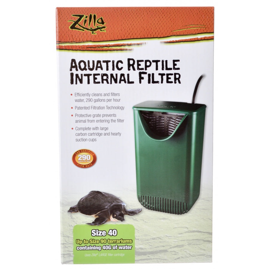 Zilla Aquatic Reptile Internal Filter - Size 40