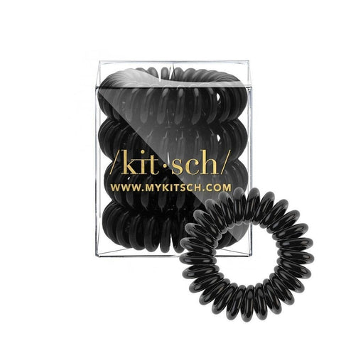 Black Hair Coils - Pack of 4