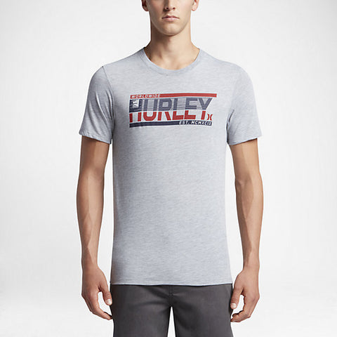HURLEY HALF MOTION DRI-BLEND SS TEE - DARK GREY HEATHER