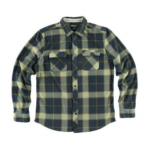 ONEILL GLACIER BIG PLAID FLANNEL - NAVY