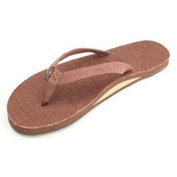 RAINBOW HEMP SINGLE LAYER NARROW STRAP - BROWN