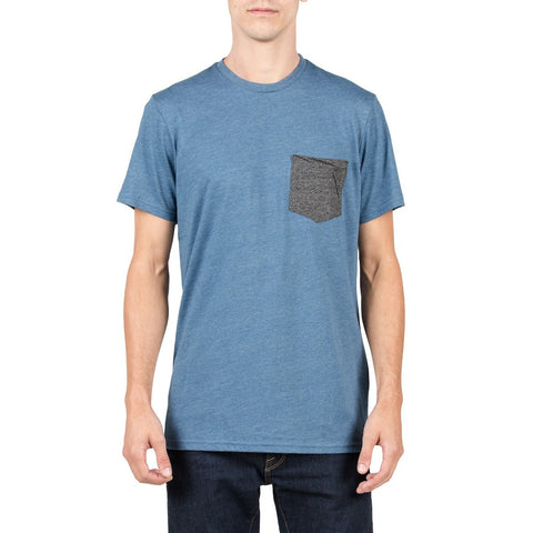 VOLCOM TWIST POCKET SS TEE - SMOKEY BLUE