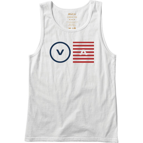 RVCA OPPOSITE OBJECTS TANK - WHITE