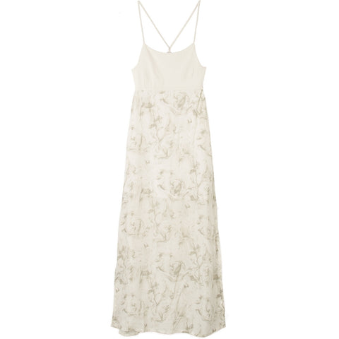 RVCA KAMBRIA DRESS - VINTAGE WHITE
