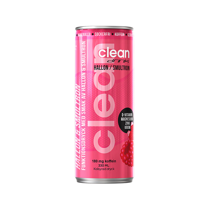 Clean Drink 24 x 330 ml | Hallon & Smultron