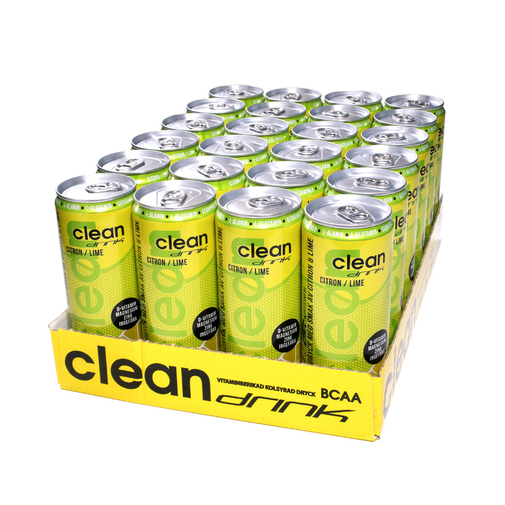 Clean Drink 24 x 330 ml | Citron / Lime (Koffeinfri)