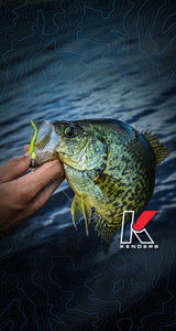 Screen Lock Graphic (Kenders Open Water Crappie) - Kenders Outdoors