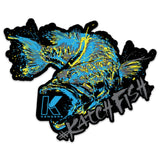 BASS BUCKET DECAL DARK - Kenders Outdoors