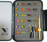 65 PIECE LARGE HOOK TUNGSTEN JIG SET WITH LARGE PAD BOX - Kenders Outdoors