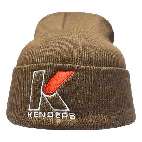 PREMIUM KNIT BEANIE WITH CUFF - BROWN - Kenders Outdoors
