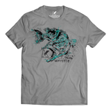 LARGEMOUTH BASS SPECIES T-SHIRT HEATHER GREY - Kenders Outdoors
