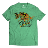LARGEMOUTH BASS SPECIES T-SHIRT HEATHER GREEN
