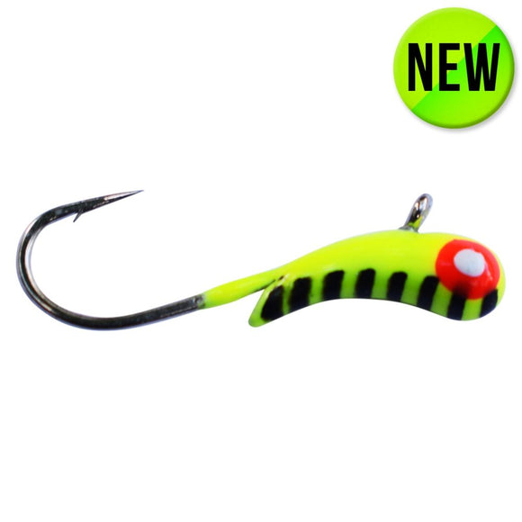 CHARTREUSE STRIPE TUNGSTEN KANOE JIG - Kenders Outdoors