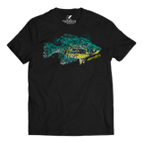 CRAPPIE SPECIES T-SHIRT BLACK