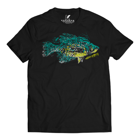 CRAPPIE SPECIES T-SHIRT BLACK - Kenders Outdoors