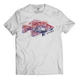 CRAPPIE SPECIES T-SHIRT WHITE - Kenders Outdoors