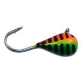 ORANGE/GREEN STRIPE GLOW TUNGSTEN JIG - Kenders Outdoors