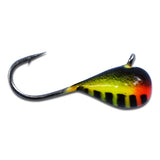 ORANGE/YELLOW BLACK STRIPE GLOW TUNGSTEN JIG - Kenders Outdoors