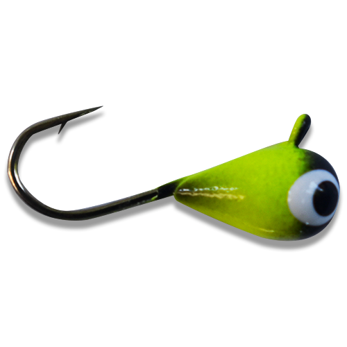 CHARTREUSE BLACK BRIGHT UV TUNGSTEN JIG - Kenders Outdoors