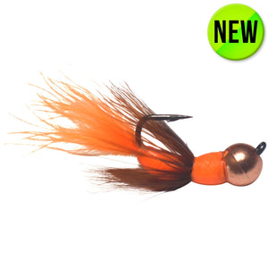 ORANGE/BROWN/COPPER TUNGSTEN AKUA JIG FLARE