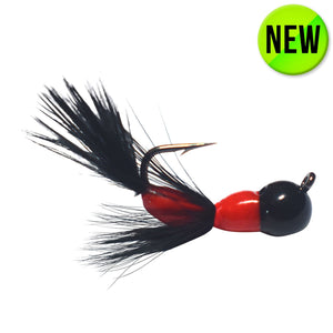 BLACK/RED TUNGSTEN AKUA JIG FLARE