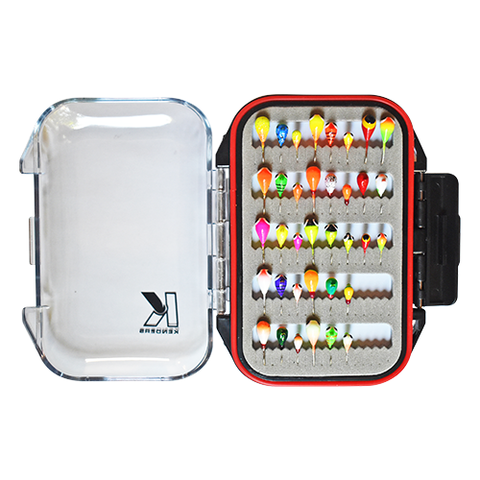 36 PIECE BRIGHT UV TUNGSTEN JIG SET WITH PREMIUM BOX - Kenders Outdoors