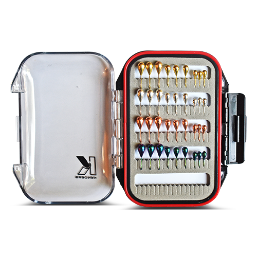 36 PIECE METALLIC TUNGSTEN JIG SET WITH PREMIUM BOX - Kenders Outdoors