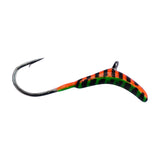 ORANGE GREEN STRIPE GLOW ROCKER TUNGSTEN JIG - Kenders Outdoors