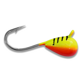 (LARGE HOOK SERIES) CHARTREUSE TIGER BRIGHT UV TUNGSTEN JIG - Kenders Outdoors