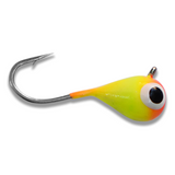 (LARGE HOOK SERIES) ORANGE/YELLOW GLOW TUNGSTEN JIG - Kenders Outdoors