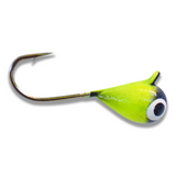 (LARGE HOOK SERIES) CHARTREUSE BLACK BRIGHT UV TUNGSTEN JIG - Kenders Outdoors