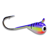 (LARGE HOOK SERIES) PURPLE CLOWN BRIGHT UV TUNGSTEN JIG - Kenders Outdoors